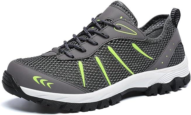 Gaatpot Scarpe da Uomo da Trekking Basse da Escursionismo Casual Sneakers Running Outdoor Respirabile Mesh Scarpe da Corsa Suola Antiscivolo 39 48