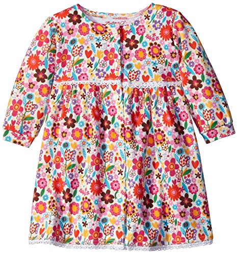 Zutano Baby Girls Sweet N Flower Long Sleeve Button Dress