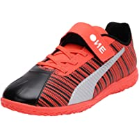 Puma Kids-Unisex ONE 5.4 IT V Jr Black-Nrgy Red