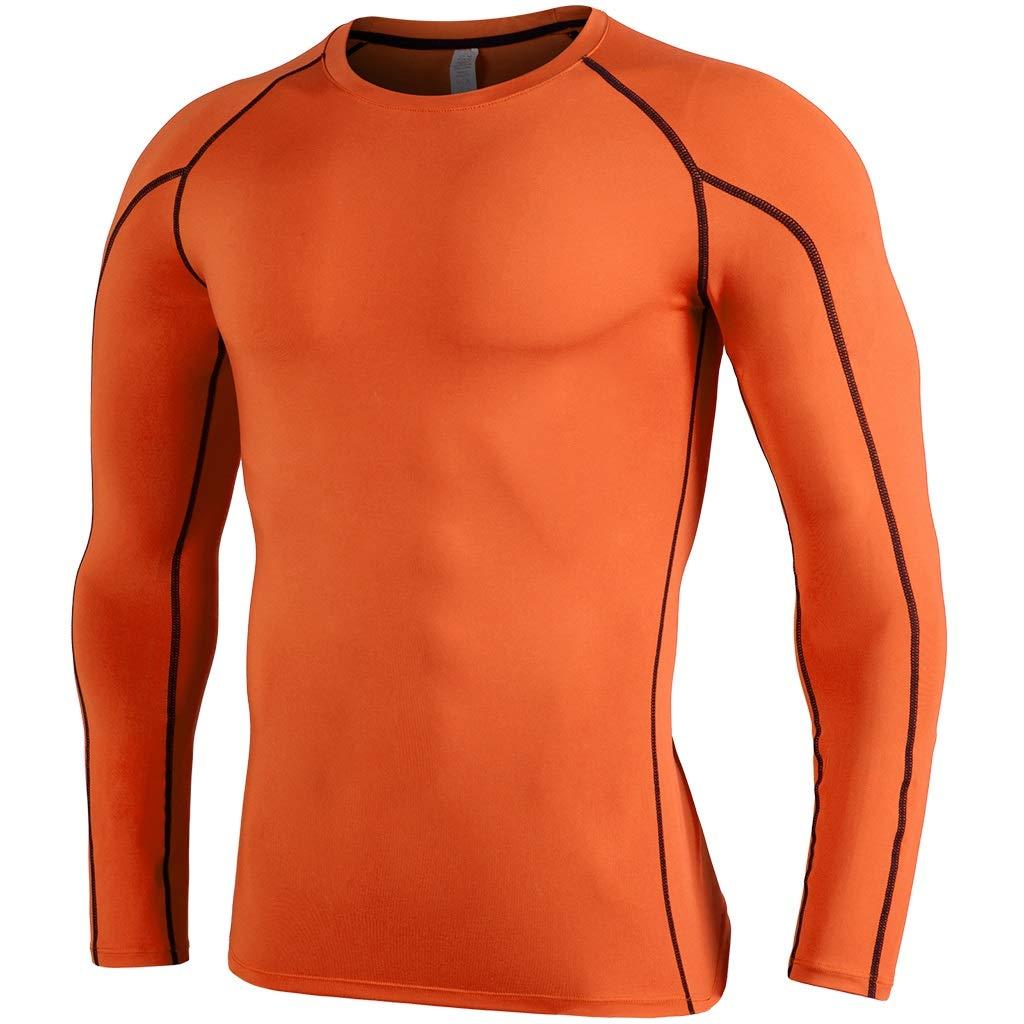 QTDS Die langärmelige, schnell trocknende Strumpfhose für Herren trainiert atmungsaktive, atmungsaktive Laufbekleidung für Sportbekleidung