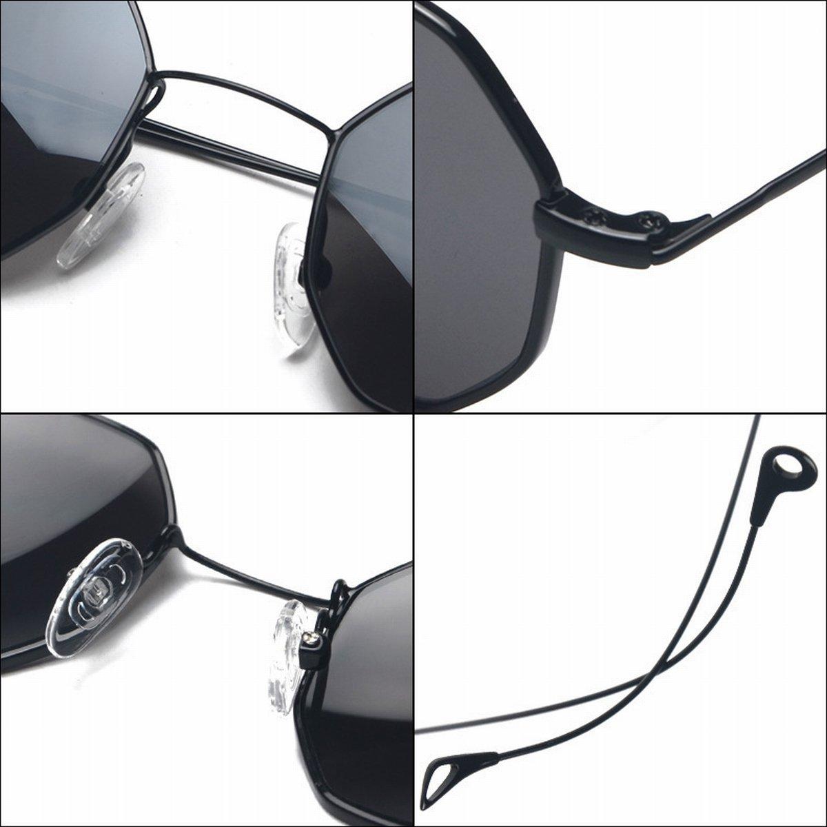 Achteckige Kleine Rahmen Metall Gläser Rahmen Marine Linse Transparente Sonnenbrille Mit Myopie Goldrahmen Flacher Spiegel prmDvoln