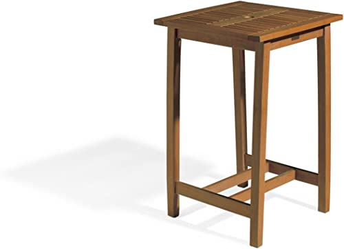 Oxford Garden Dartmoor 28-Inch Square Shorea Bar Table, Brown Umber