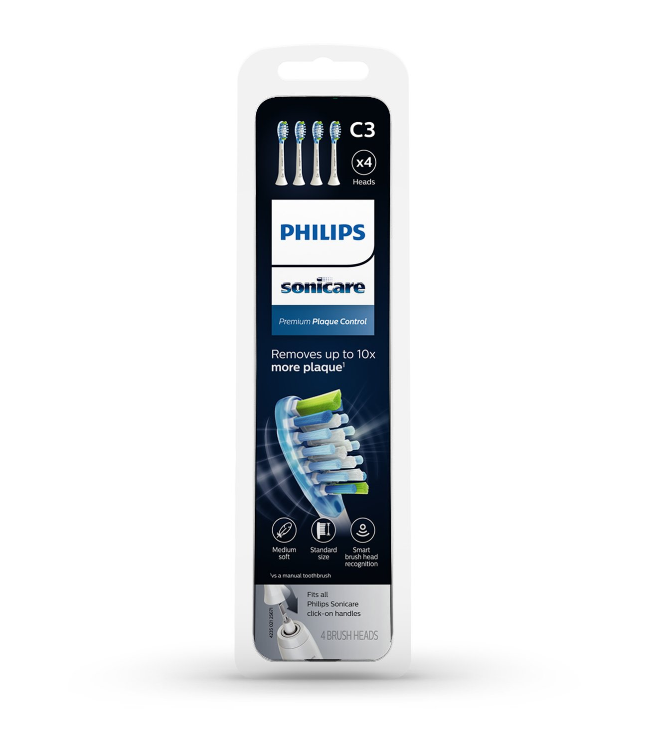 Philips Sonicare Premium Plaque Control replacement toothbrush heads, HX9044/65, Smart recognition, White 4-pk by Philips Sonicare (Image #7)