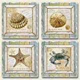 Treasures From The Sea 4 Absorbent Stone Coasters