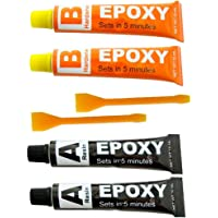 Lijm, epoxyhars, 2 stuks, voor het repareren van metaal, keramiek, glas, kunststof, rubber