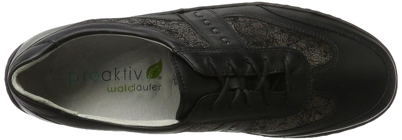 Waldläufer Henni 496000 Ama244 001 - Zapatos casual de de de cuero para mujer 9452f1