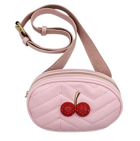 5fa5d954877c Kids Girls Toddler Fanny Pack Mini Cherry Crossbody Purse Waist Bags with  Belt