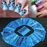 Gotd 48 Sheets New Flower Lace Nail Art Water Transfer Stickers Nail Tips Decoration