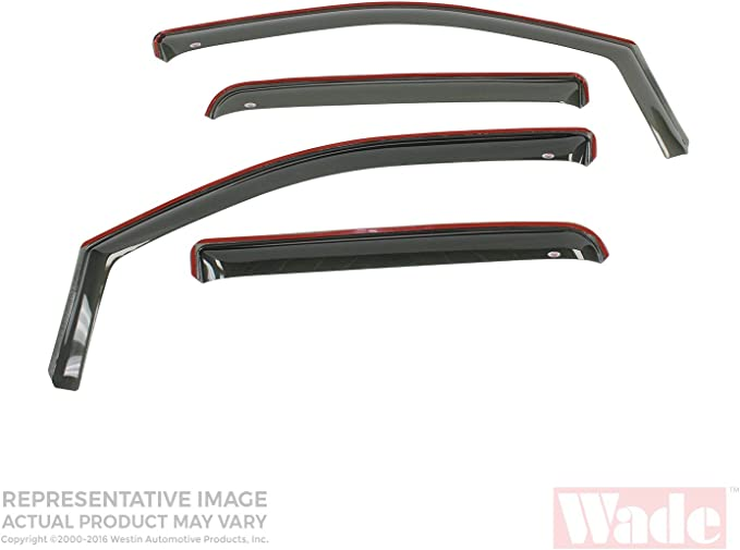 Pair Westin Wade 72-31822 Smoke Tint Solid Design Tail Light Cover