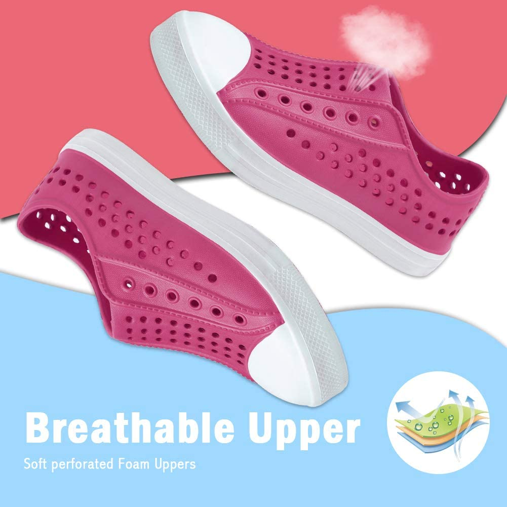 seannel Kids Water Shoes Slip-On Sneaker Lightweight/Breathable Sandal Outdoor /& Indoor-U819STLXS001-04-Rose-27