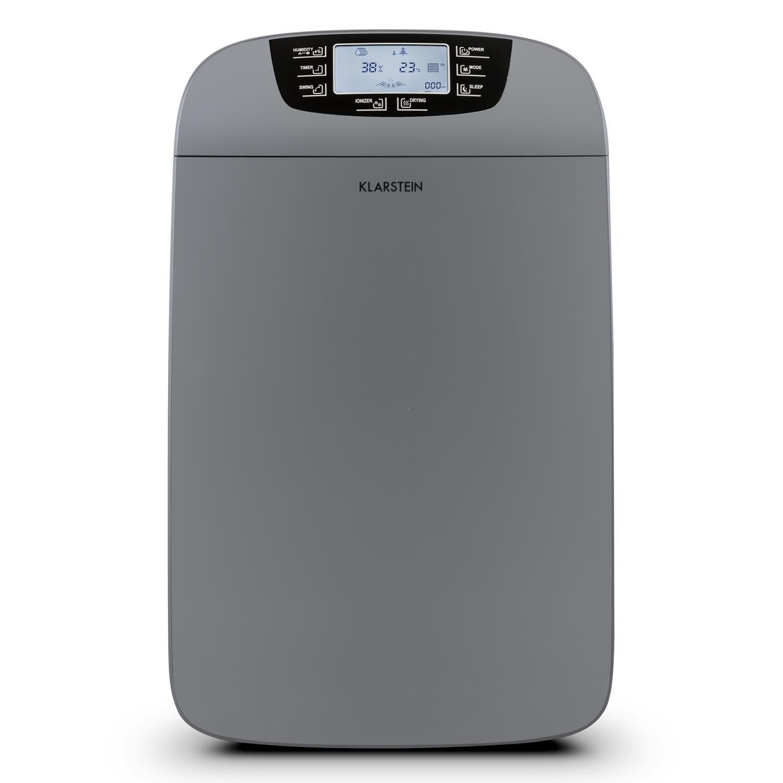 Klarstein Drybest 40 • Deshumidificador 2-en-1 • Purificador Aire • Deshumidificador eléctrico • 40L/24h • 600 W • Carbón Activo/Filtro HEPA • 35-42m² • 6L ...
