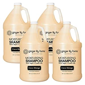 Ginger Lily Farms Botanicals Coco Mango Moisturizing Shampoo, 100% Vegan, Paraben, Sulfate, Phosphate, Gluten and Cruelty-Free, 1 Gallon (Case of 4)