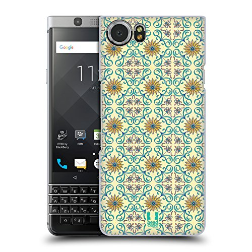 Head Case Designs Damask Floral Majolica Print Hard Back Case for BlackBerry KEYone / Mercury (Majolica Berries)