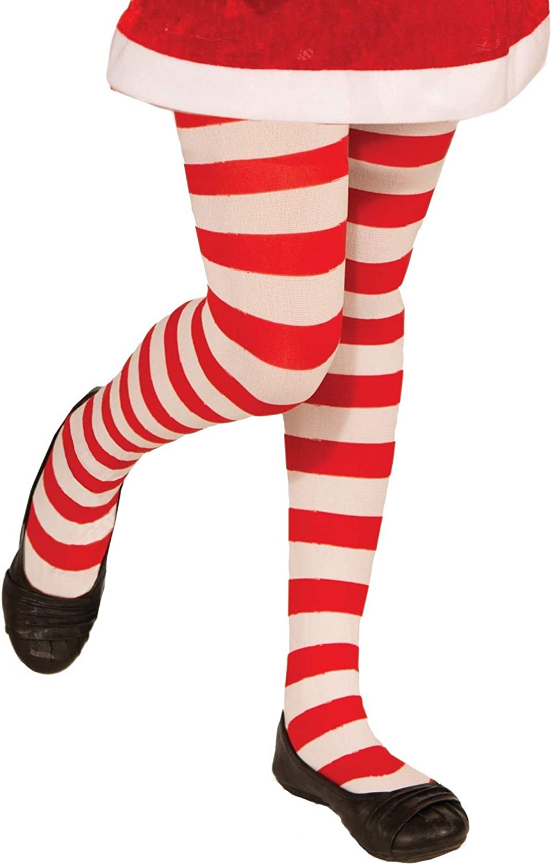 Amazon.com: Disfraz navideño con leggings a rayas ...