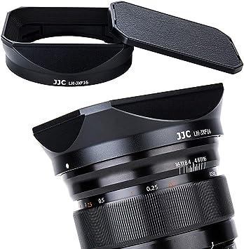 Haoge Bayonet Square Metal Lens Hood Shade with Cap for Fujifilm Fuji Fujinon XF16mmF1.4 XF 16mm F1.4 R WR Wide Angle on X-Pro2 X-Pro1 X-T2 X-T1 X-T20 X-T10 X-E2S X-A5 X-A20 X-E3 X-H1 Replace LH-XF16
