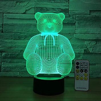Oso Sentado Mesa de luz Linda luz de Noche decoración de la Sala ...