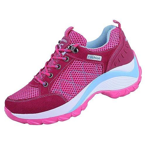 Logobeing Zapatillas Deportivas Mujer Running Alpinismo Zapatos Seguridad Mujer Comodos Zapatos Mujer Tacon Cordones Casuales Sneakers: Amazon.es: Zapatos y ...