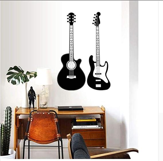 YYKFXL Pegatina de pared,Guitarra Moderna Decoración De Moda ...
