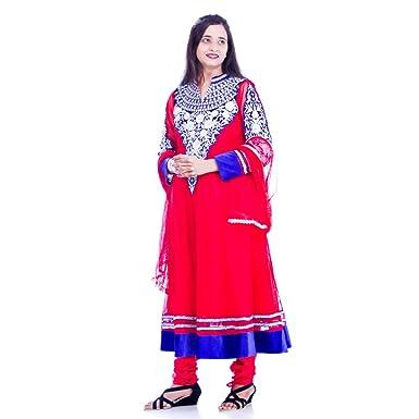 Unique Embroidery Design Net Cloth Anarkali Party Wear Salwar Suit