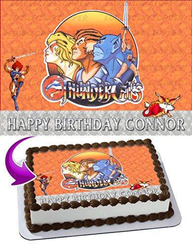 ThunderCats Edible Image Cake Topper Personalized Birthday 1/4 Sheet Decoration Custom Sheet Party Birthday Sugar Frosting Transfer Fondant Image ~ Best Quality Edible Image for cake ()