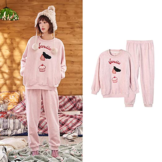 Bayrick Pijamas Mujer Invierno Polar,Pijamas Mujer otoño e ...