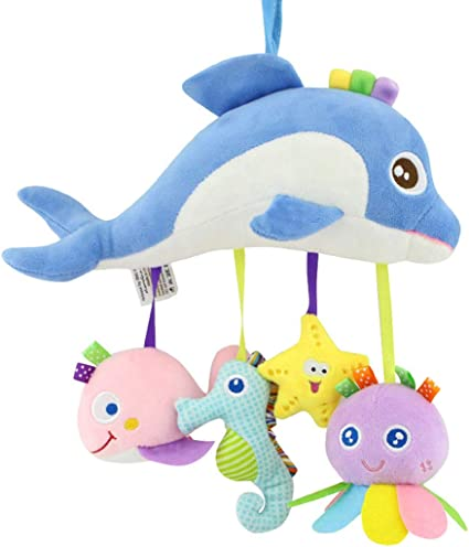 Baby Crib Hanging Toy Infant Stroller Car Seat Bed Toy Rattle Plush Toy DP
