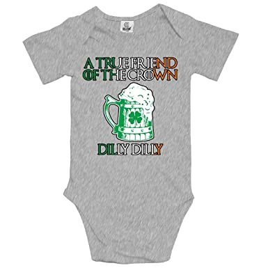 43656508ec Amazon.com: St Patricks Day Dilly Dilly Funny Baby One-Piece Bodysuit  Novelty Romper Outfits: Clothing