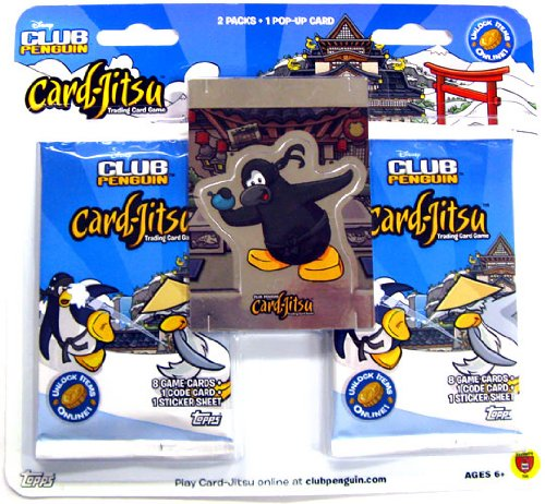 Disney Club Penguin Card - Club Penguin Card Jitsu Double Pack with POP-UP Ninja Card Set