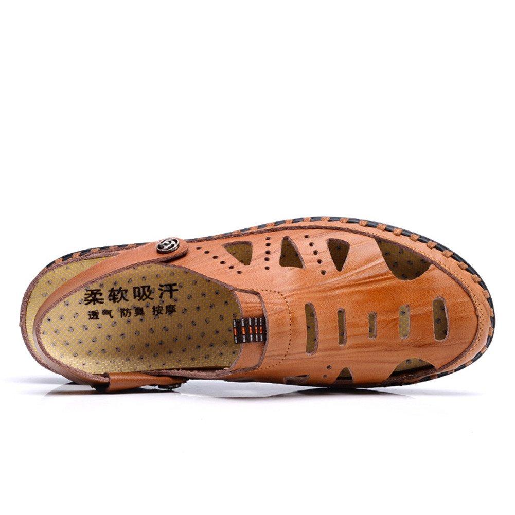 ailishabroy Hommes Confortables Ont fermé des Sandales d orteil Chaussures  d été de Cuir d homme  Amazon.fr  Chaussures et Sacs f108fd52eed