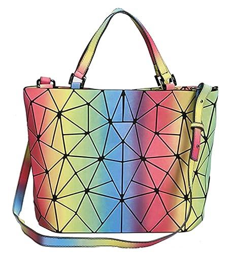 Amazon.com: Huameibang - Bolso luminoso geométrico para ...