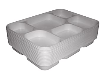 Deluxe Heavy Duty 6 Compartment Plastic Dinner Plates 50pc Party Home Food Disposable Section Tray Curry  sc 1 st  Amazon UK & Deluxe Heavy Duty 6 Compartment Plastic Dinner Plates 50pc Party ...