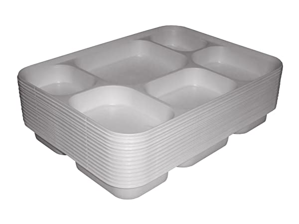 Deluxe Heavy Duty 6 Compartment Plastic Dinner Plates 50pc Party Home Food Disposable Section Tray Curry  sc 1 st  Amazon.com & Amazon.com: Deluxe Heavy Duty 6 Compartment Plastic Dinner Plates ...