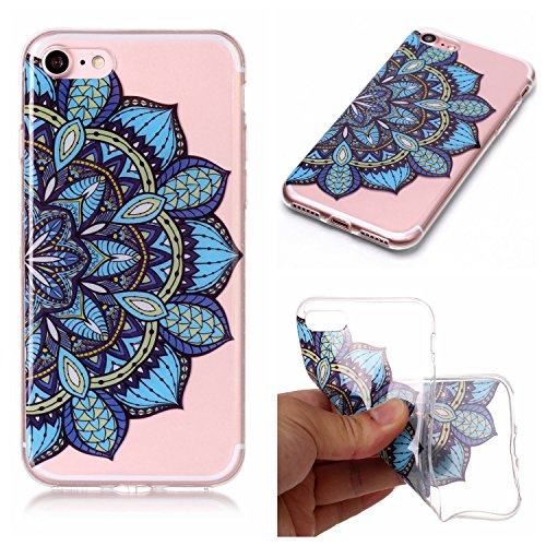 Custodia iPhone 7 / iPhone 8 , LH Metà Del Lato Fiore TPU Trasparente Silicone Cristallo Morbido Case Cover Custodie per Apple iPhone 7 / iPhone 8 4.7