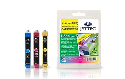 Jet Tec HP No. 364 Cian, Magenta, Amarillo cartucho de tinta ...