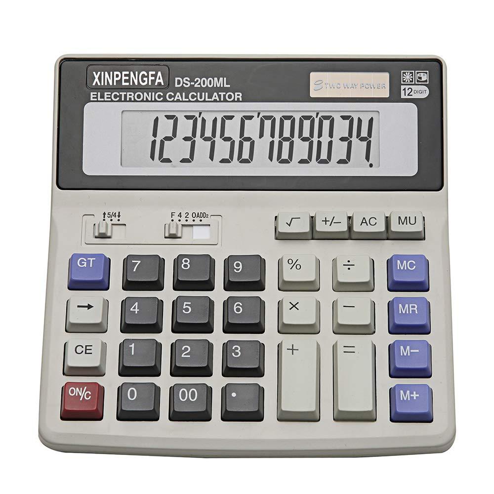 Xinpengfa Desktop Office Calculator 12 Digit Display and Big Button, Basic Business Calculator DS200ML