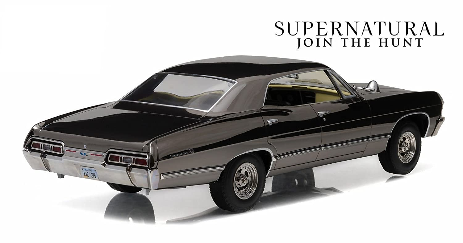 Impala black chevy impala : Amazon.com: 1967 Chevrolet Impala Sport Sedan Black Chrome Edition ...