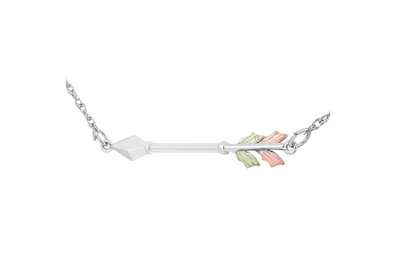 Black Hills Gold Silver Arrow Necklace