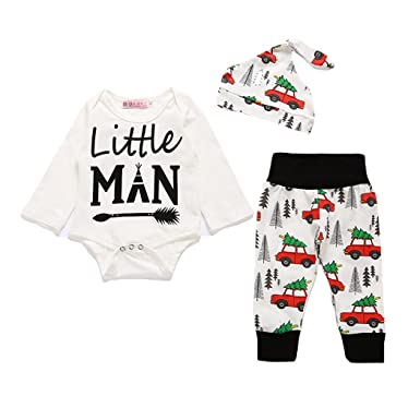 4d838311e Tkria Little Kids Pajamas Set Christmas Santa Claus 3Pcs My First ...