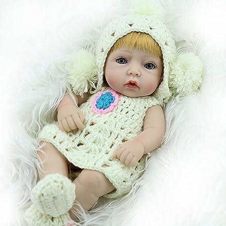 Amazon Com Silicone Reborn Baby Dolls Lifelike Girls Toys Eyes Open