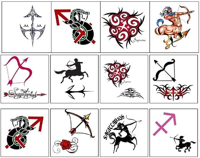 segno zodiacale stella zodiac star sign Temporary Tattoos ...