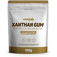 Goma Xantana de HSN Foods - Espesante Alimenticio - Ideal para Recetas Fitness - Fibra Soluble para dar Espesidad - Sin Gluten, Sin Lactosa, Apto Veganos, En Polvo - 150 gr