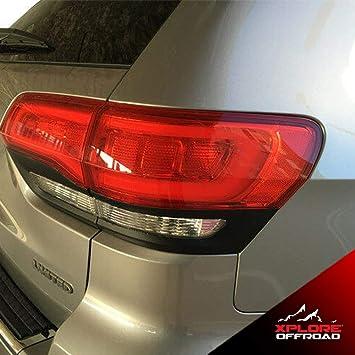 Carbon Fiber Tail Brake Light Car Sticker For JEEP Grand Cherokee 2014-2019