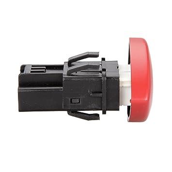 Kongqiabona Interruptor de luz de Advertencia de Emergencia Interruptor Intermitente Warnblinker Schalter para Renault Laguna Master Trafic II Vauxhall 01-14