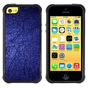 Pulsar iFace Series Tpu silicona Carcasa Funda Case para Apple iPhone 5C , Fond d'écran bleu Bling Lumineux Dark Design