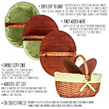 Best Picnic Basket Wicker with Lid and Handle - Big