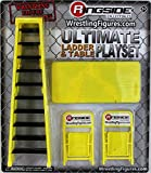 ULTIMATE LADDER & TABLE PLAYSET (YELLOW) - RINGSIDE COLLECTIBLES EXCLUSIVE WWE TOY WRESTLING ACTION FIGURE ACCESSORY PACK