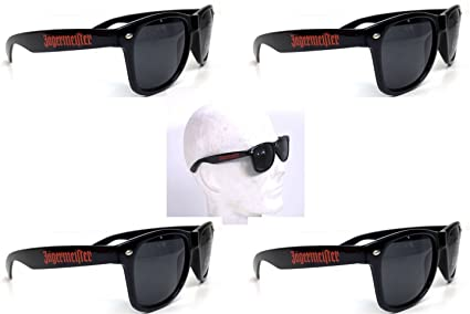 Jägermeister - Occhiali da sole, con logo sulle stanghette
