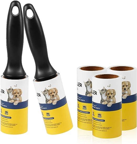 Rollo de pelusa para eliminar el pelo de mascotas, cinta de pelusas extra adhesiva para ropa, perros, gatos, pelo – 5 unidades: Amazon.es: Hogar