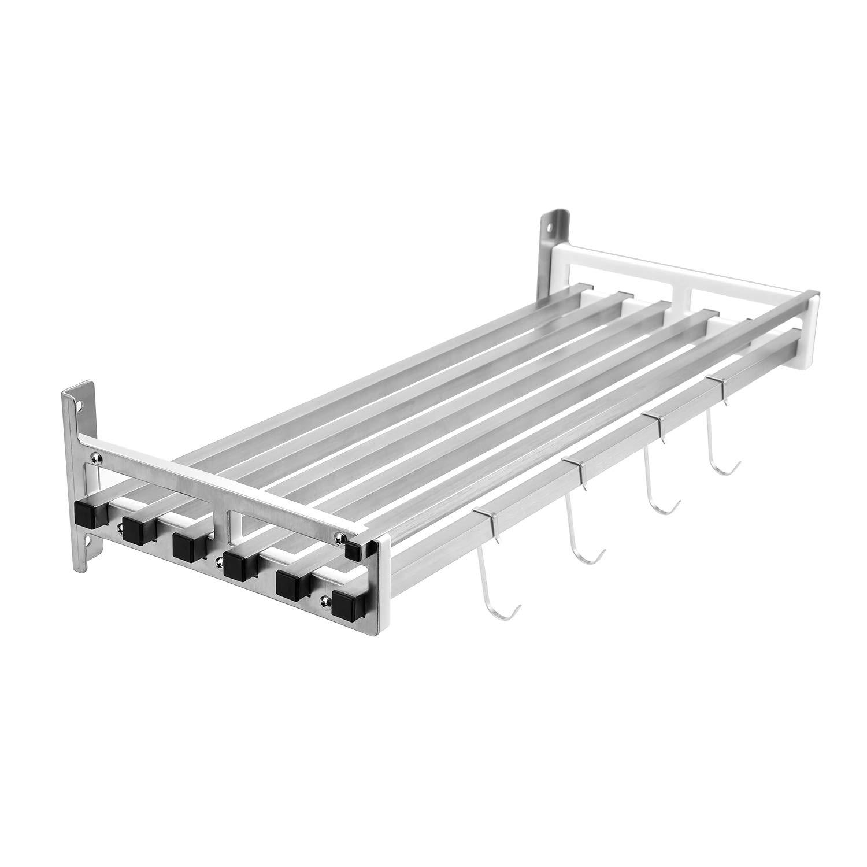304 Stainless Steel Single-Tier Shelf,Kitchen Toilet Storage Organizer Wall Mounted Bathroom shelf-W19.7inch