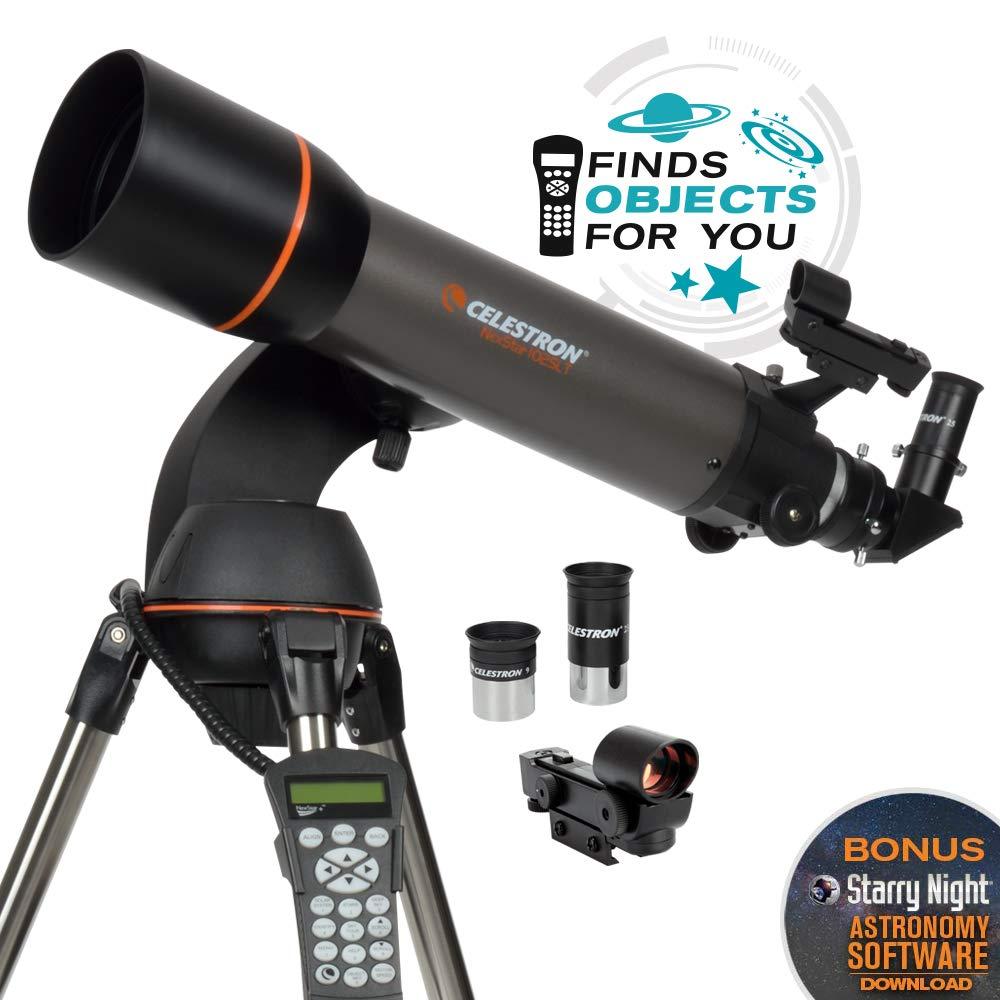 Celestron - NexStar 102SLT Computerized Telescope - Compact and Portable - Refractor Optical Design - SkyAlign Technology - Computerized Hand Control - 102mm Aperture by Celestron